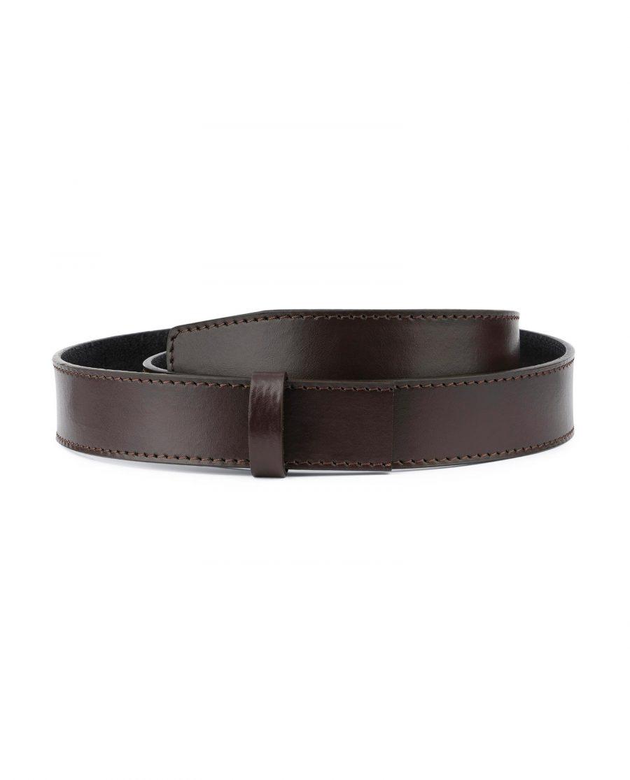 Dark Brown Leather Strap for Ratchet Belt 1