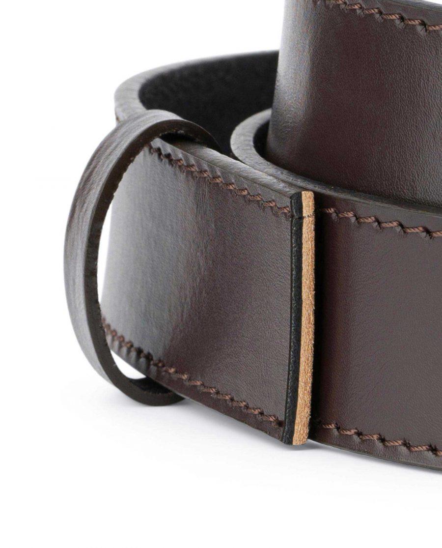 Dark Brown Leather Strap for Ratchet Belt 2