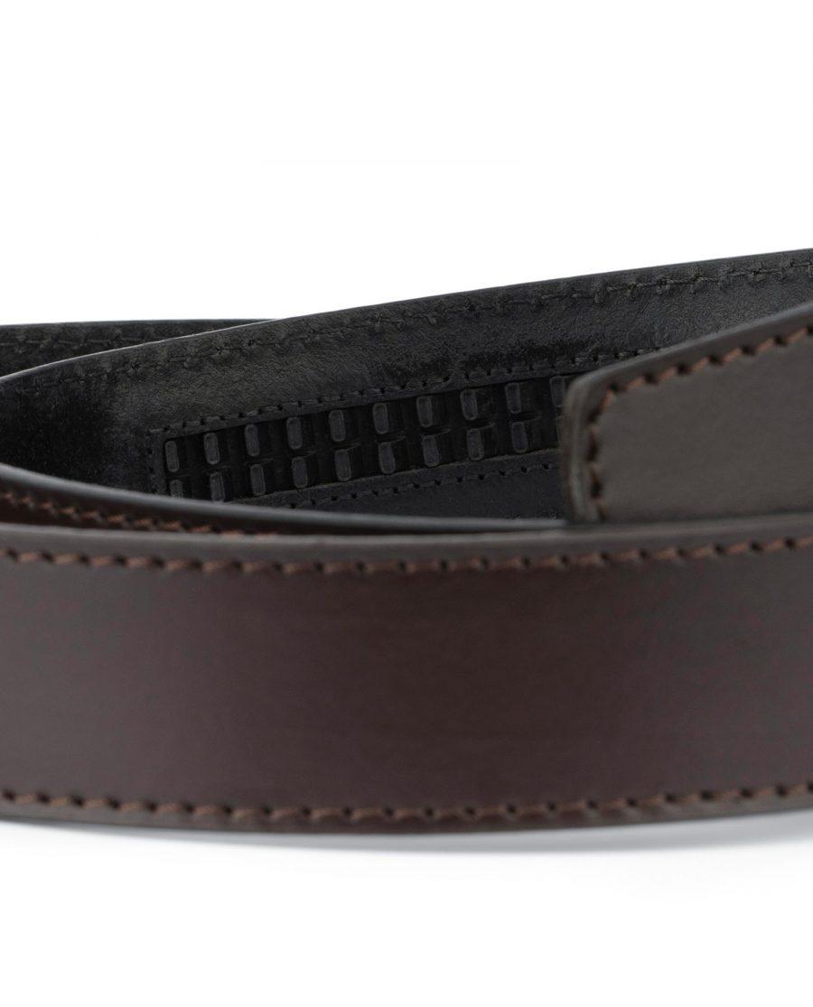 Dark Brown Leather Strap for Ratchet Belt 3
