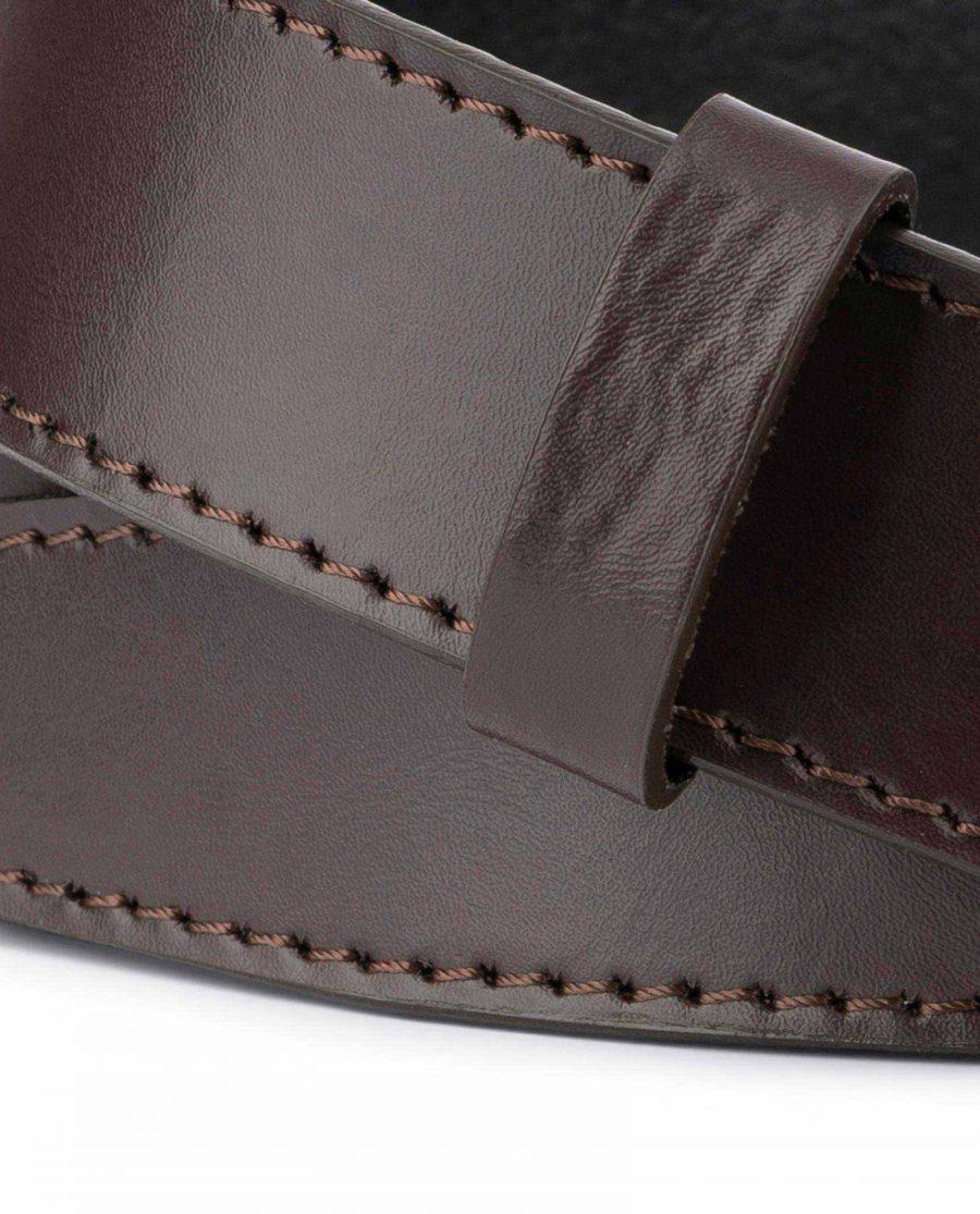 Dark Brown Leather Strap for Ratchet Belt 4
