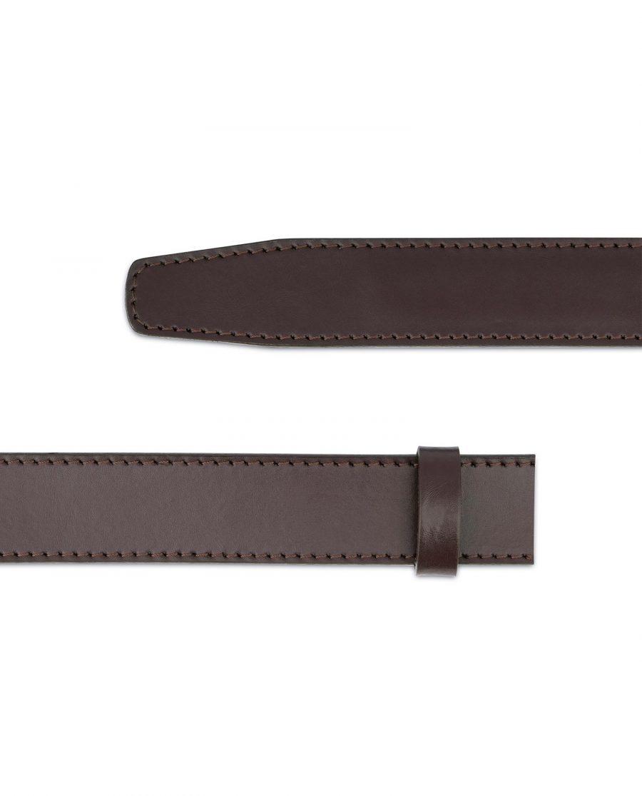 Dark Brown Leather Strap for Ratchet Belt 5