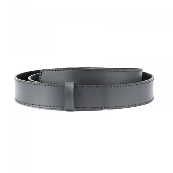 Grey Leather Strap for Ratchet Belt 1