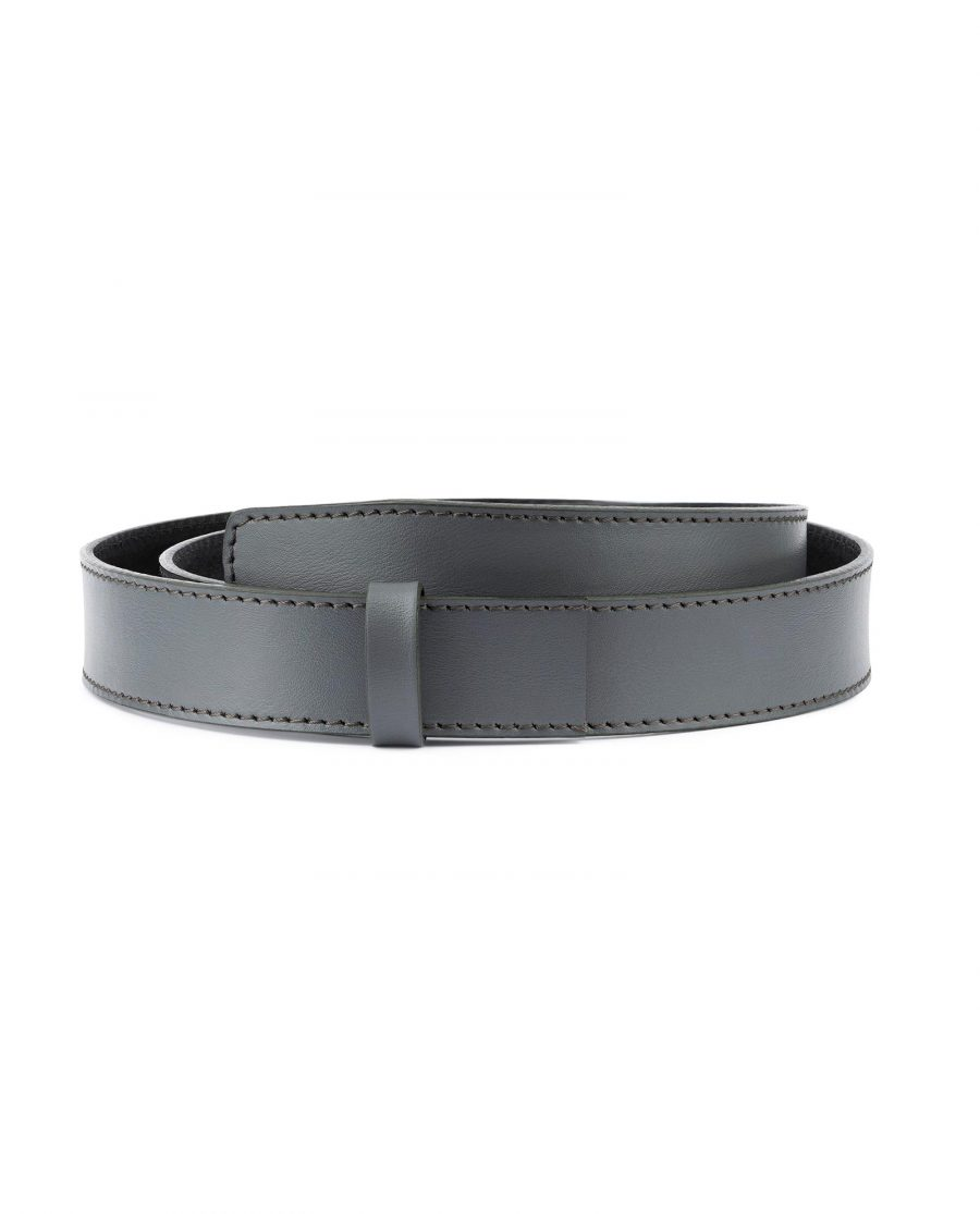 Grey Leather Strap for Ratchet Belt 1