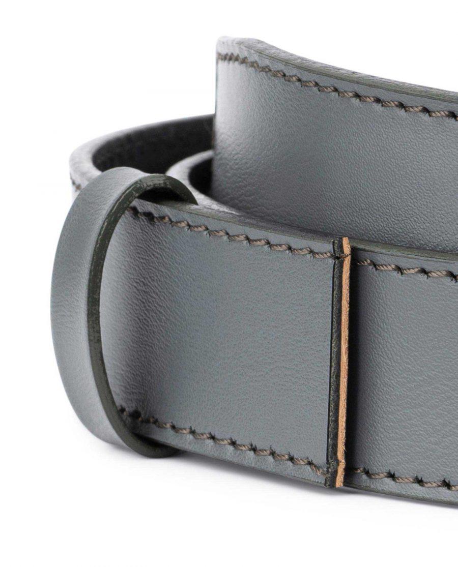 Grey Leather Strap for Ratchet Belt 2