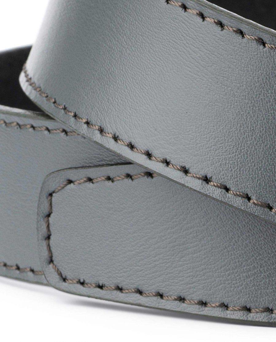 Grey Leather Strap for Ratchet Belt 4