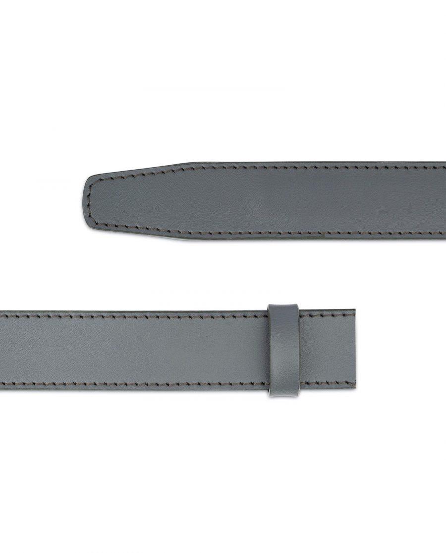 Grey Leather Strap for Ratchet Belt 5
