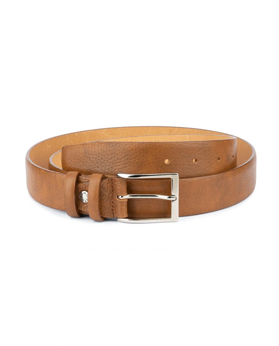 Light Brown Mens Belt Genuine Italian Leather 1