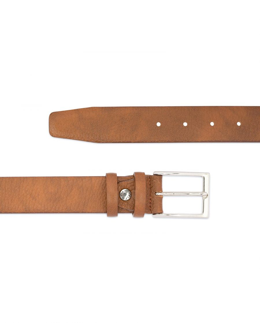 Light Brown Mens Belt Genuine Italian Leather 2