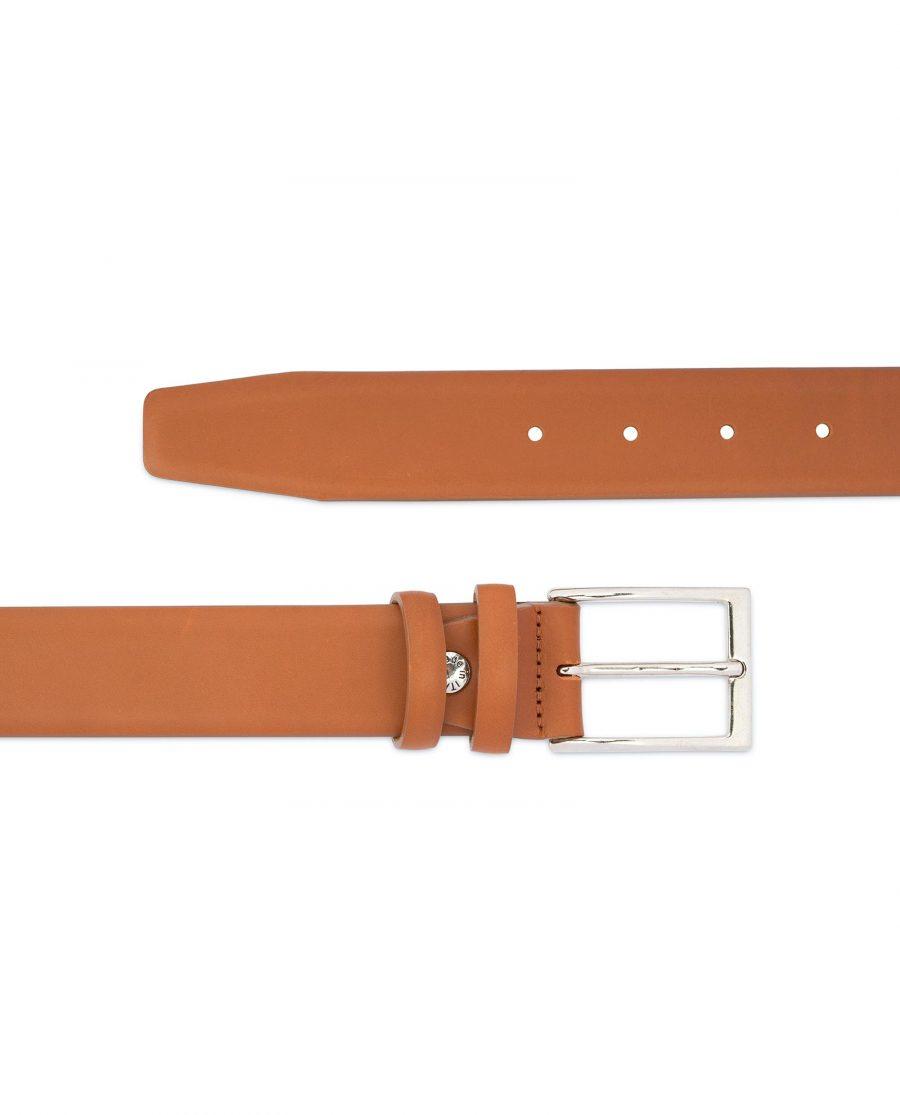 Light Tan Mens Belt Soft Italian Leather 2