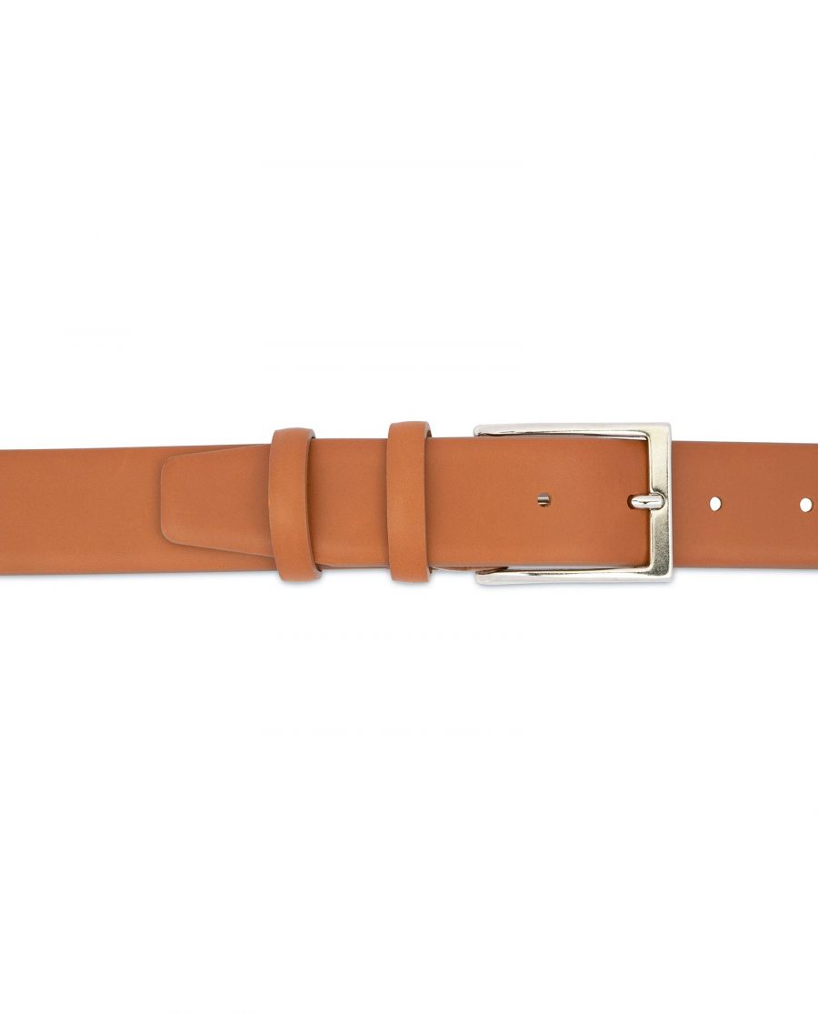 Light Tan Mens Belt Soft Italian Leather 3