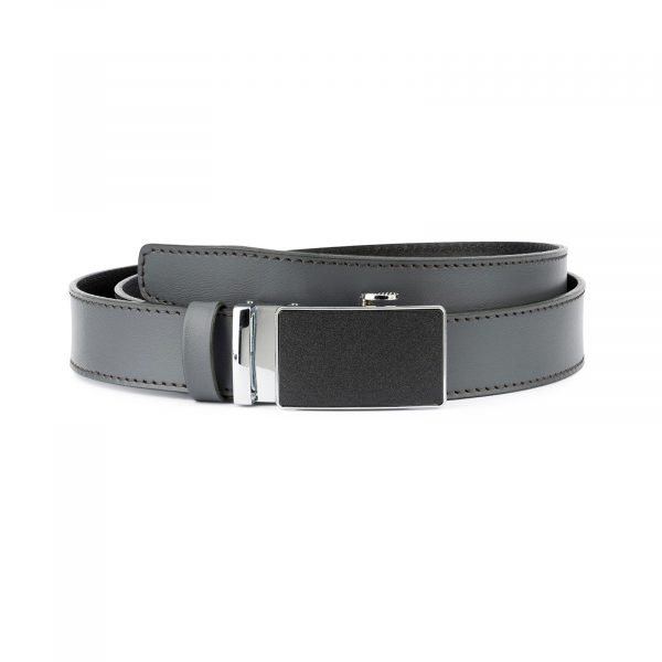 Mens Grey Belt with Slide Buckle 1