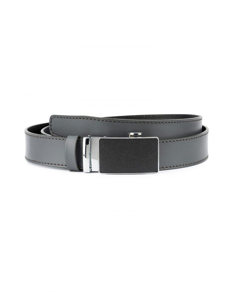 Mens Grey Belt with Slide Buckle 1