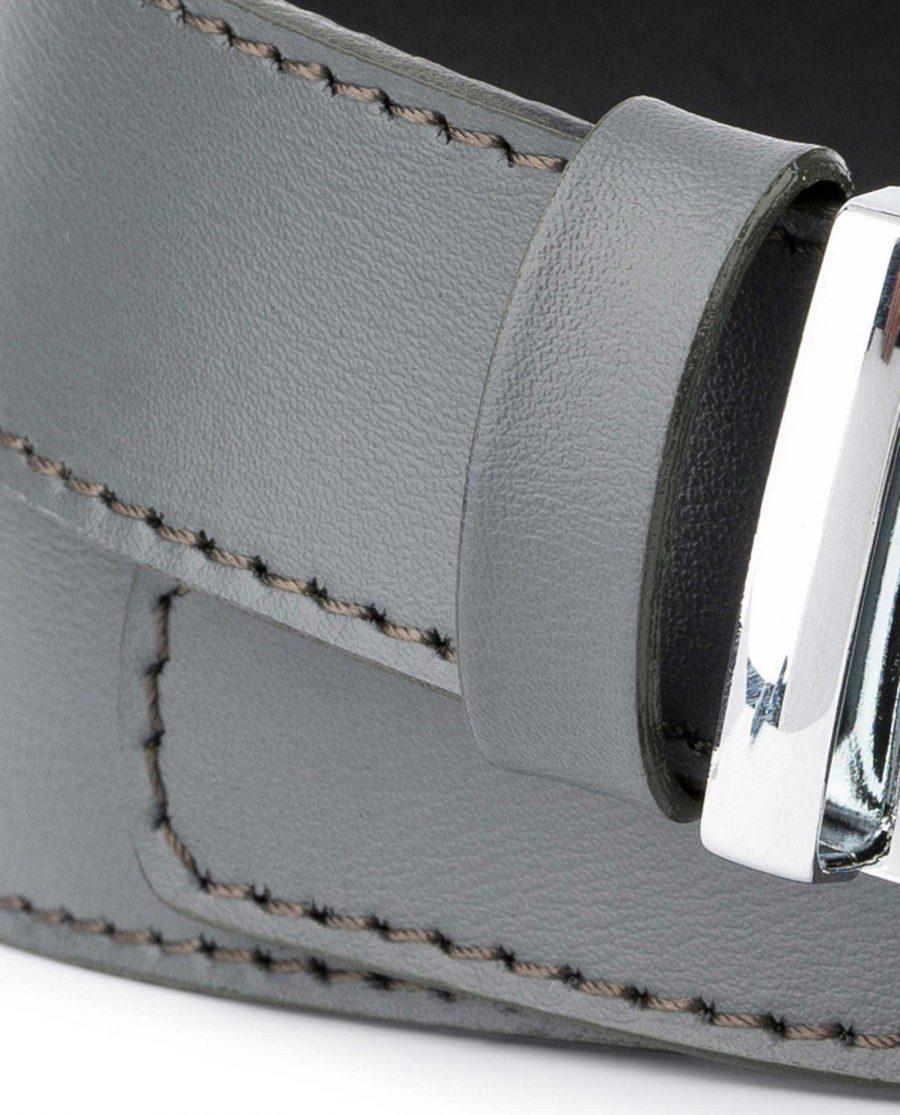 Mens Grey Belt with Slide Buckle 2