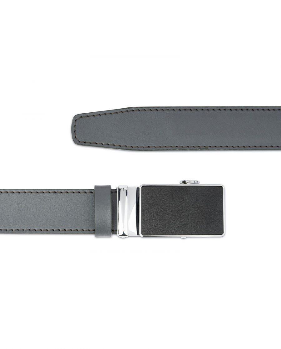 Mens Grey Belt with Slide Buckle 3