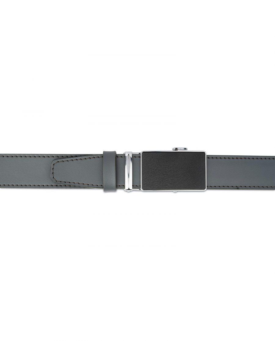Mens Grey Belt with Slide Buckle 4