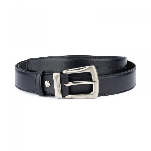 Mens Navy Blue Belt for Jeans 1