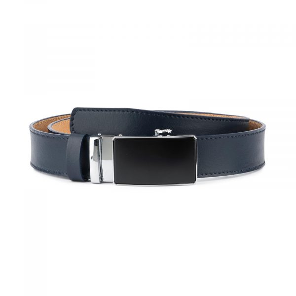 Navy Blue Mens Belt Without Holes 1