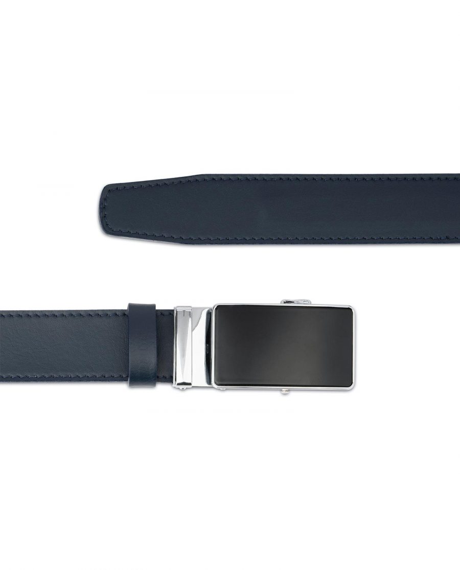 Navy Blue Mens Belt Without Holes 3