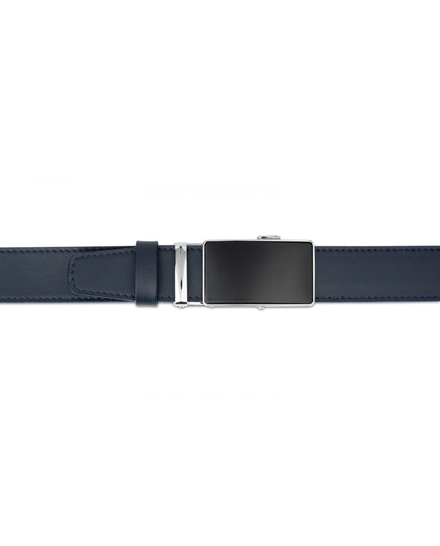Navy Blue Mens Belt Without Holes 4