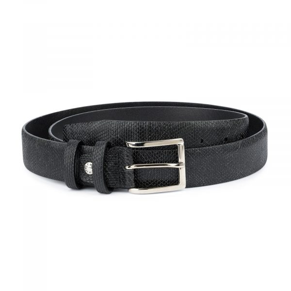 Snake Print Belt for Men Black 3 5 cm 1
