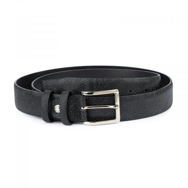 Snake Print Belt for Men Black 3 5 cm 1