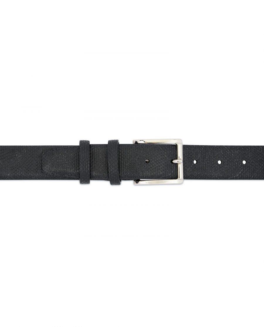 Snake Print Belt for Men Black 3 5 cm 3