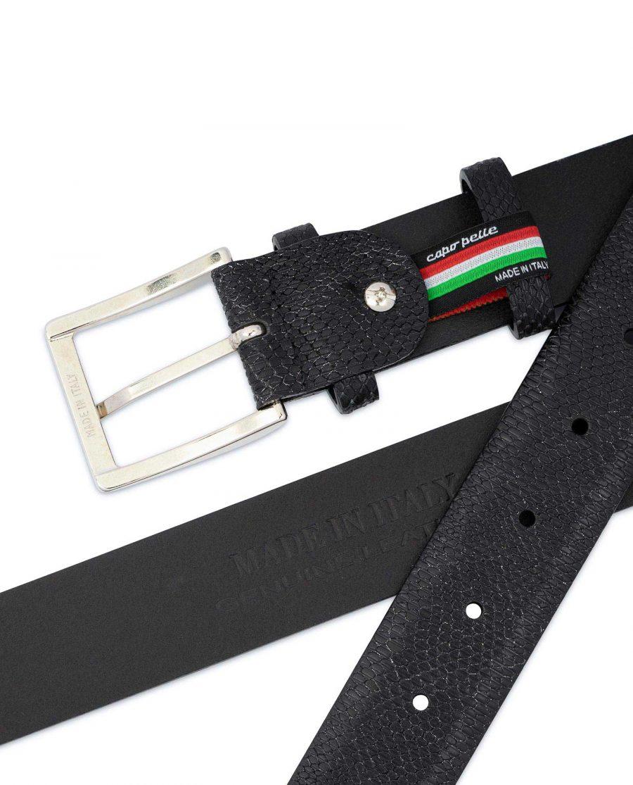 Snake Print Belt for Men Black 3 5 cm 4