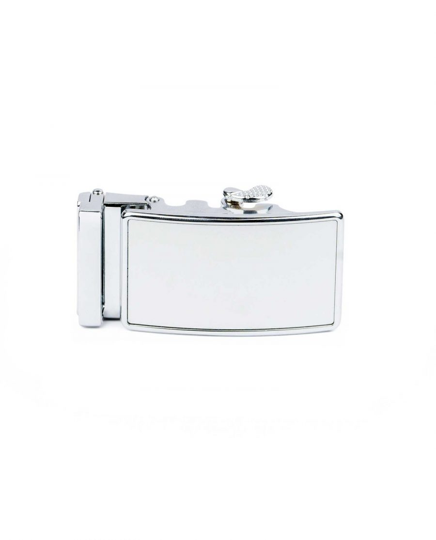 White Automatic Belt Buckle 1