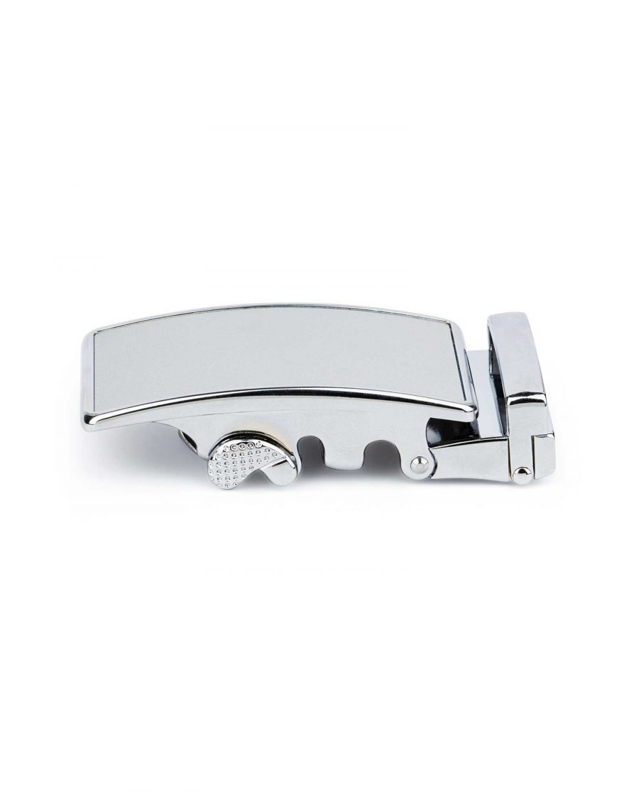 White Automatic Belt Buckle 2