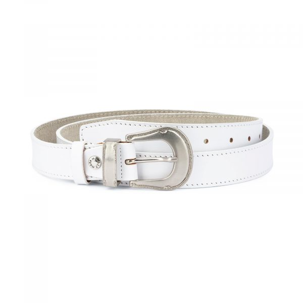 White Western Belt for Women 1