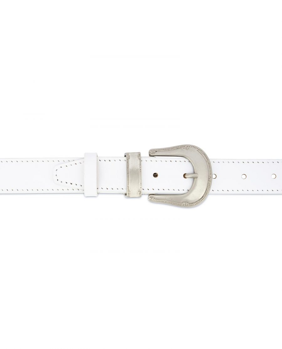 White Western Belt for Women 3
