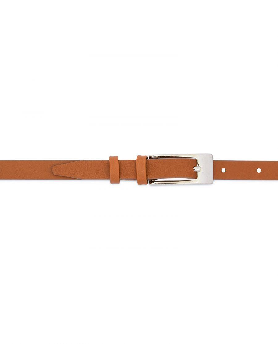 Womens Tan Belt Skinny Thin 2