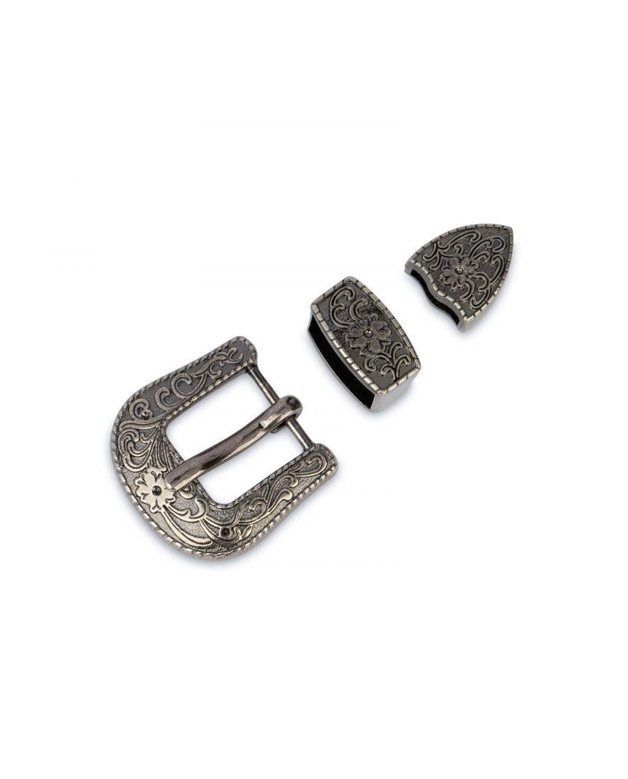 small womens western belt buckle 3 piece set 3