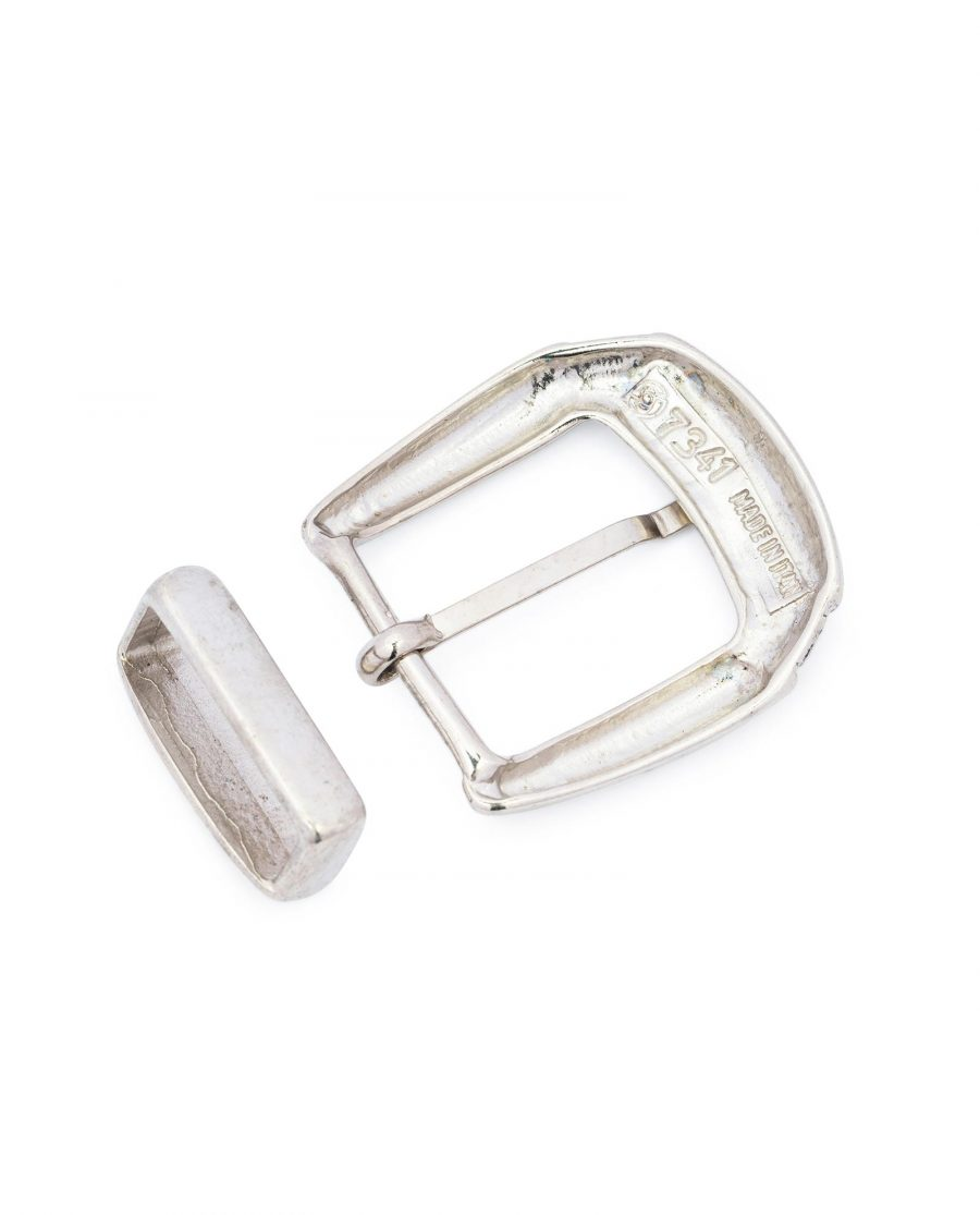 womens western belt buckle silver 1 1 8 inch 4
