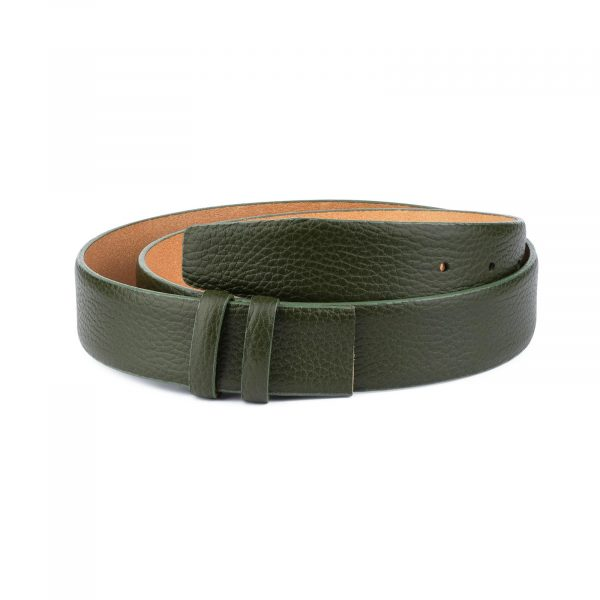 British Racing Green Leather Belt Strap 35 mm 1