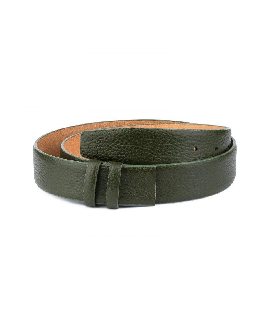 British Racing Green Leather Belt Strap 35 mm 1