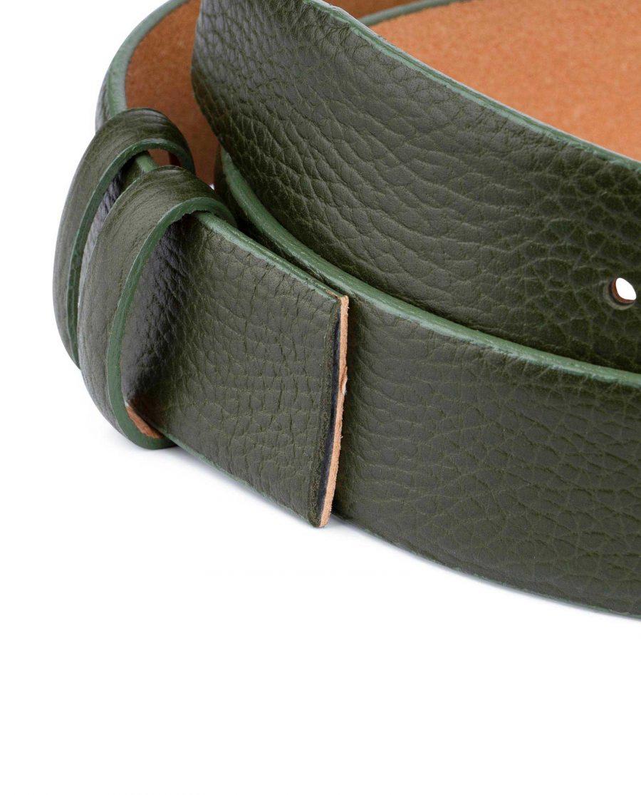 British Racing Green Leather Belt Strap 35 mm 2