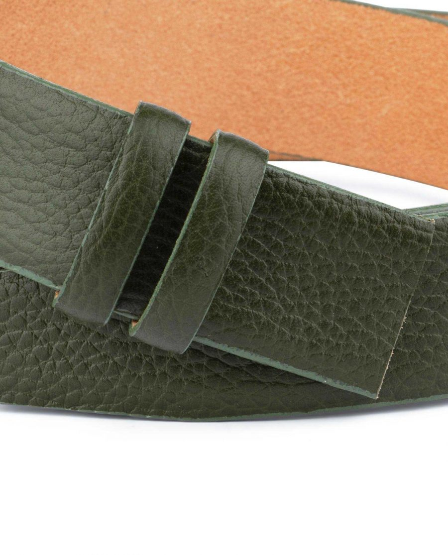 British Racing Green Leather Belt Strap 35 mm 3