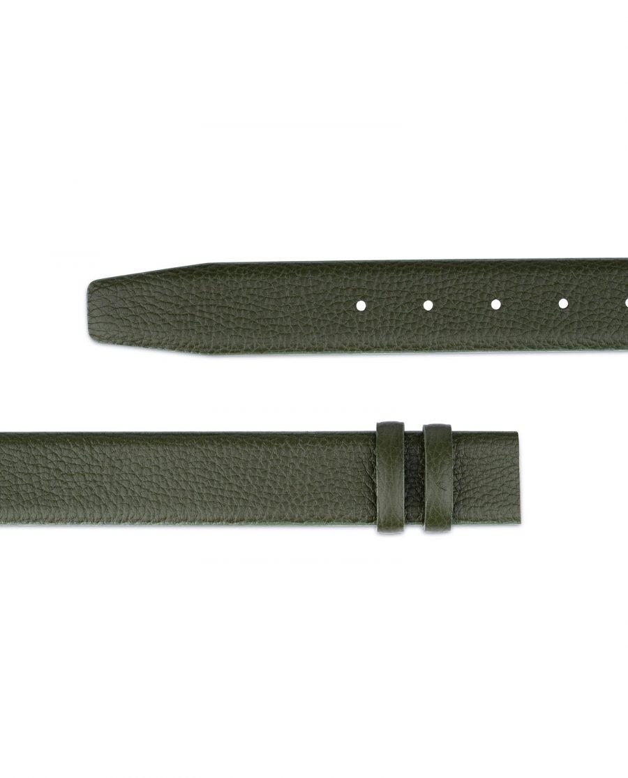 British Racing Green Leather Belt Strap 35 mm 4