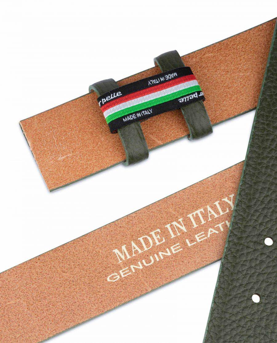 British Racing Green Leather Belt Strap 35 mm 5