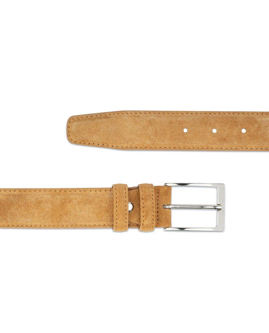 Camel Suede Belt 3 5 cm 2