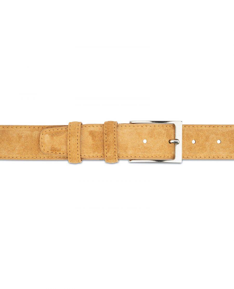 Camel Suede Belt 3 5 cm 3
