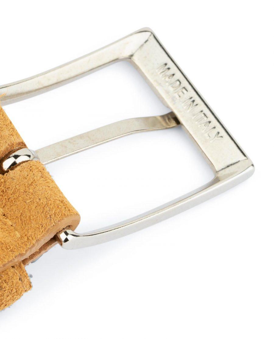 Camel Suede Belt 3 5 cm 6