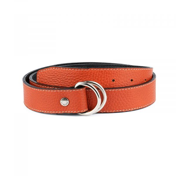 Dark Orange D Ring Belt 1