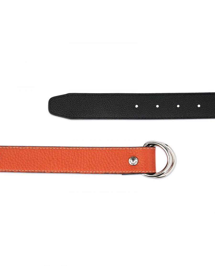 Dark Orange D Ring Belt 2