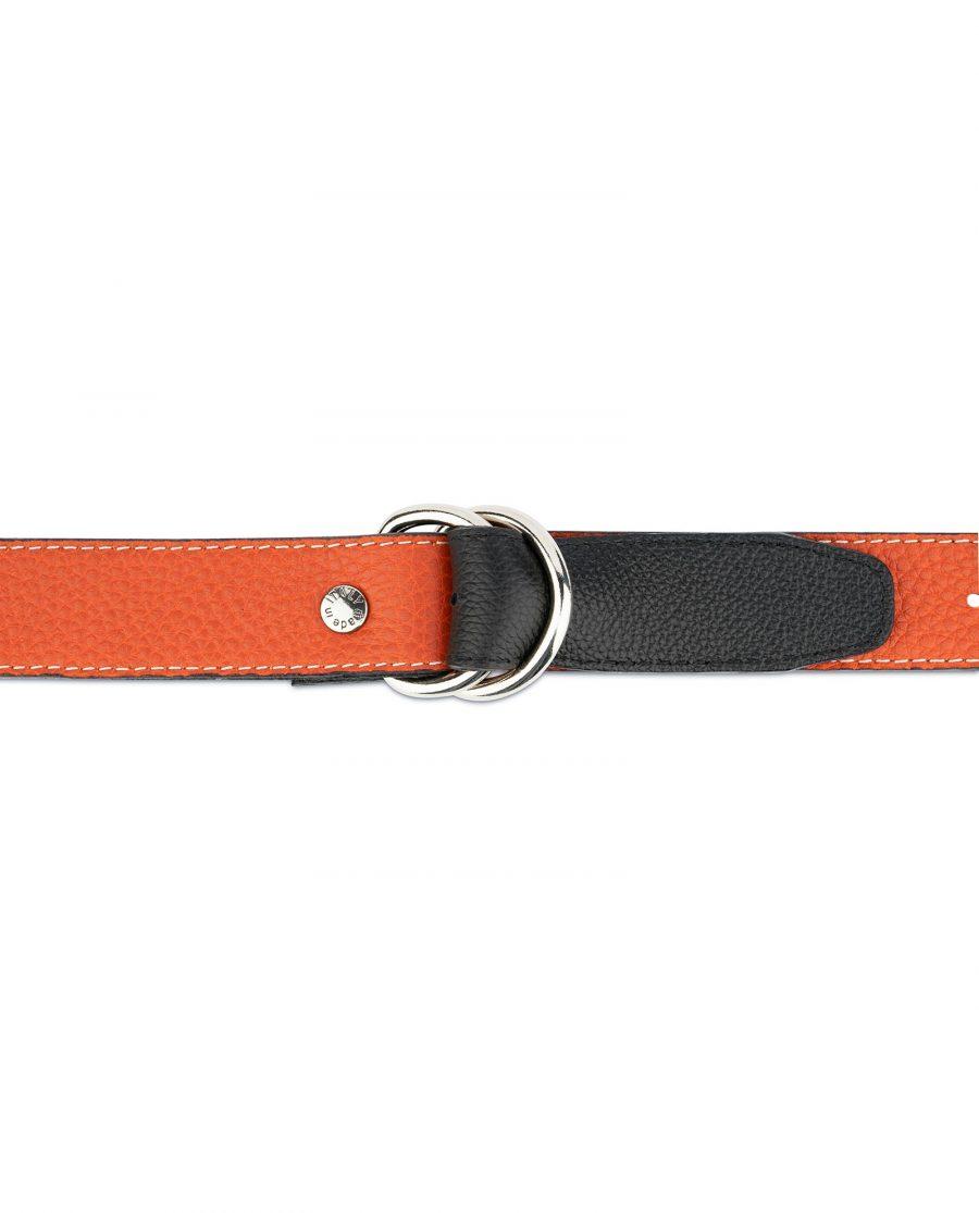 Dark Orange D Ring Belt 3