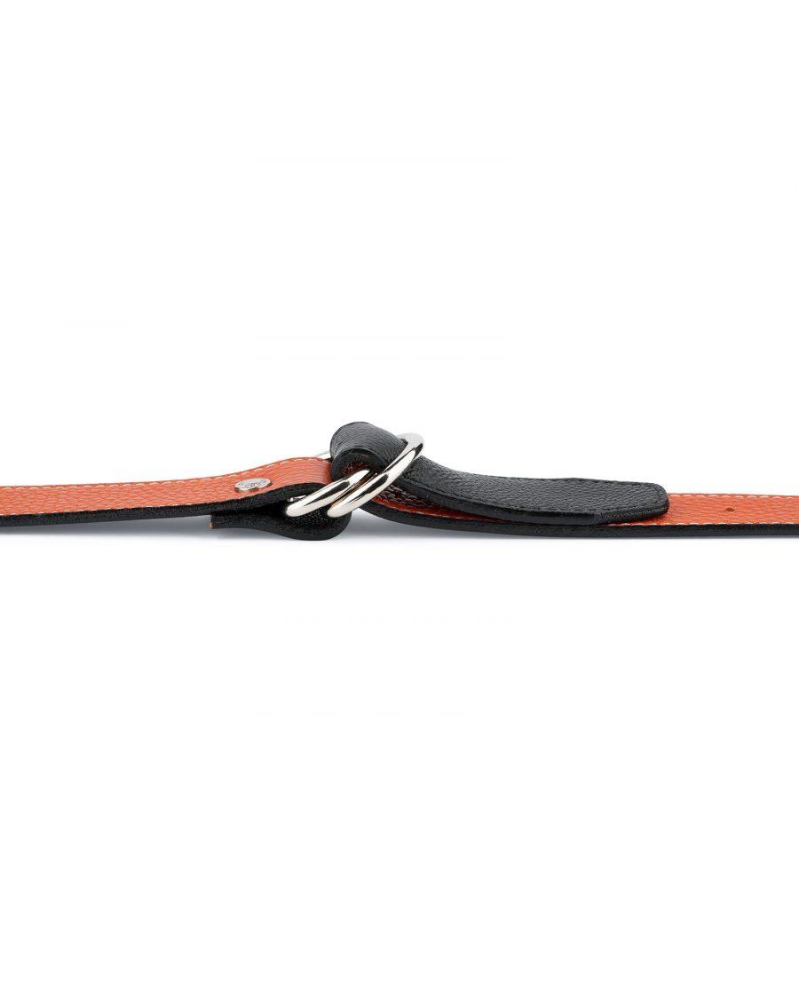 Dark Orange D Ring Belt 4