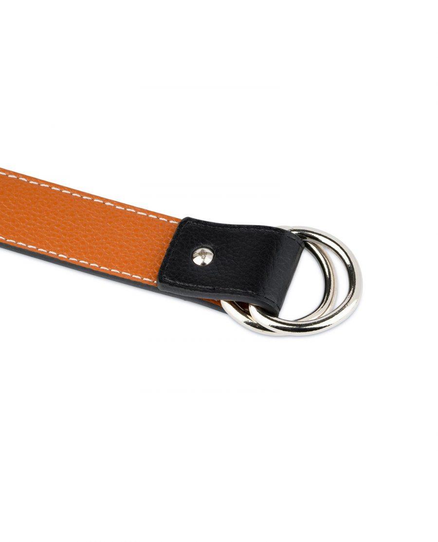 Double Loop Belt Black Beige 6