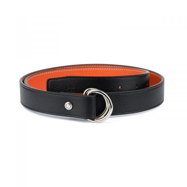 Orange Double Loop Belt 1