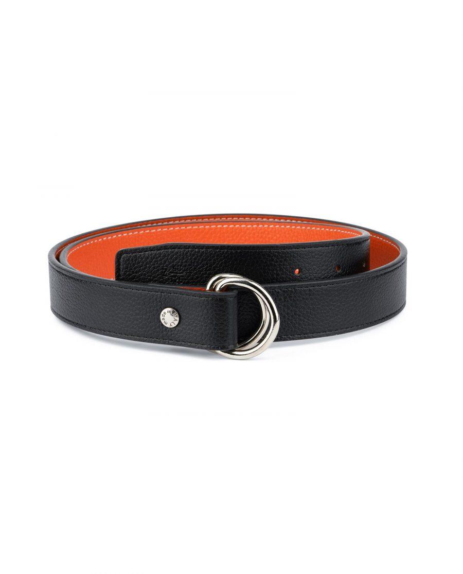 Orange Double Loop Belt 1